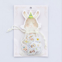 100 pcs/lot Lovely Rabbit mini paper sticker DIY diary decoration sticker for planner album scrapbooking kawaii stationery