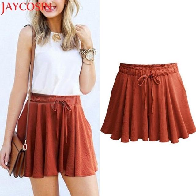 981b2bce92c KLV skirt women Women Fashion runway skirt Pants Casual Loose Shorts Mini Skirt  High Waist Trousers ST10