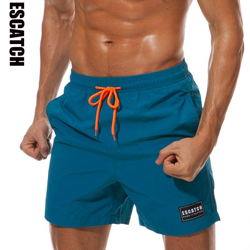 ESCATCH Mens Swimwear Swim Shorts Trunks Beach Board Shorts Swimming Pants Swimsuits Mens Running Sports Surffing Shorts
