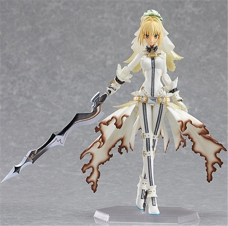 Action-Figure Model-Toys Wedding-Dress Figma Fate Lily Night-Saber Nero Collection PVC