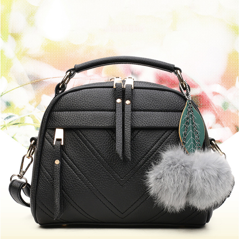 Ladies Bag Hairball pendant fashion handbag shoulder Messenger bags women taschen women bolsa masculina sac main femmeLadies Bag Hairball pendant fashion handbag shoulder Messenger bags women taschen women bolsa masculina sac main femme
