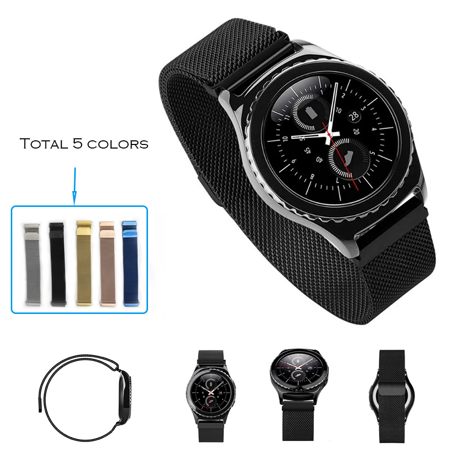 URVOI band for Samsung Galaxy Gear Sport S2 Classic stainless steel strap wrist with magnet closure milanese loop modern design все цены
