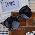 2016 Летний Стиль Cat Eye Солнцезащитные Очки Женщины Очки Полуободковые Солнцезащитные Очки Супер Круглый Круг Cat Eye Солнцезащитные Очки