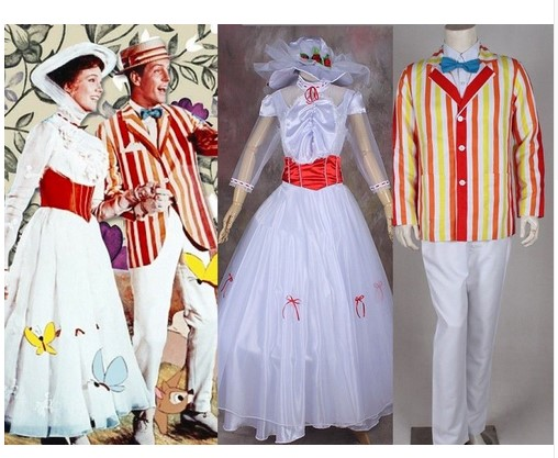 Halloween movie Mary Poppins Bert Cosplay costume fancy party dress Cos