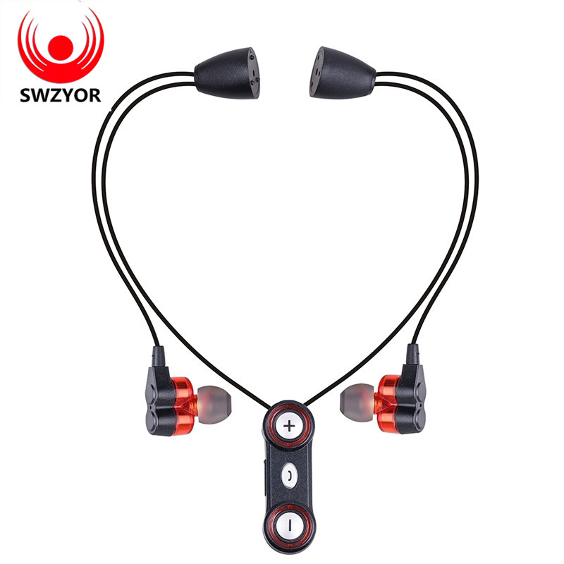 SWZYOR WY-S11 Sports Bluetooth Headphones Sweatproof Wireless Earphones Dual Bass Hands-free Headset Stereo Mic With 4 Speakers picun p3 hifi headphones bluetooth v4 1 wireless sports earphones stereo with mic for apple ipod asus ipads nano airpods itouch4