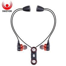Swzyor WY-S11 Спортивные наушники Bluetooth устойчивое Беспроводные наушники двойной бас Hands-Free гарнитура стерео микрофон с 4 динамиками