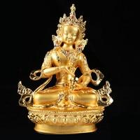 Special offer # 2019 HOME Family TOP Efficacious Protection # Tibetan Buddhism Vajrasattva Buddha Gilding Statue R55
