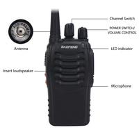 "2pcs baofeng bf 888s 2pcs Baofeng 888S BF-888S מכשיר הקשר 5W Handheld Portable שני הדרך רדיו UHF 400-470 מגהרץ 16CH CB FM Ham Radio מקמ""ש (4)"