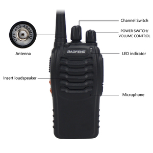 Image 4 - 2Pcs Baofeng 888S BF 888S Walkie Talkie 5W Handheld Portable Two Way Radio UHF 400 470 MHz 16CH CB FM Ham Radio Transceiver