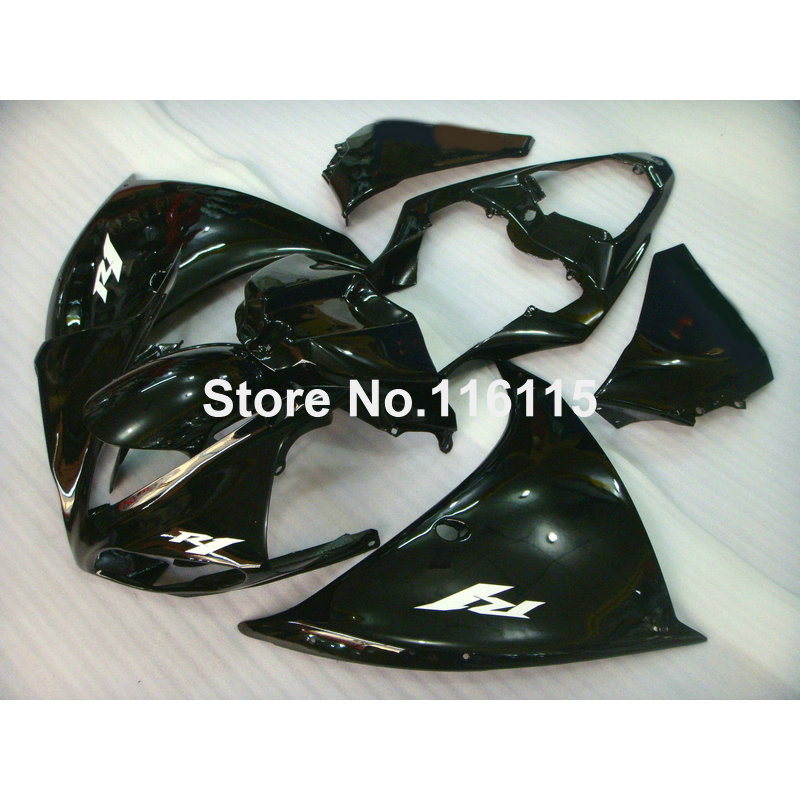 Injection molding high quality fairing kit for YAMAHA YZF R1 2009-2012 2013 2014  YZF-R1 09-14 all glossy black fairings set CQ6 high quality abs fairing kit for yamaha r1 2002 2003 red flames in black fairings set injection molding yzf r1 02 03 yz32
