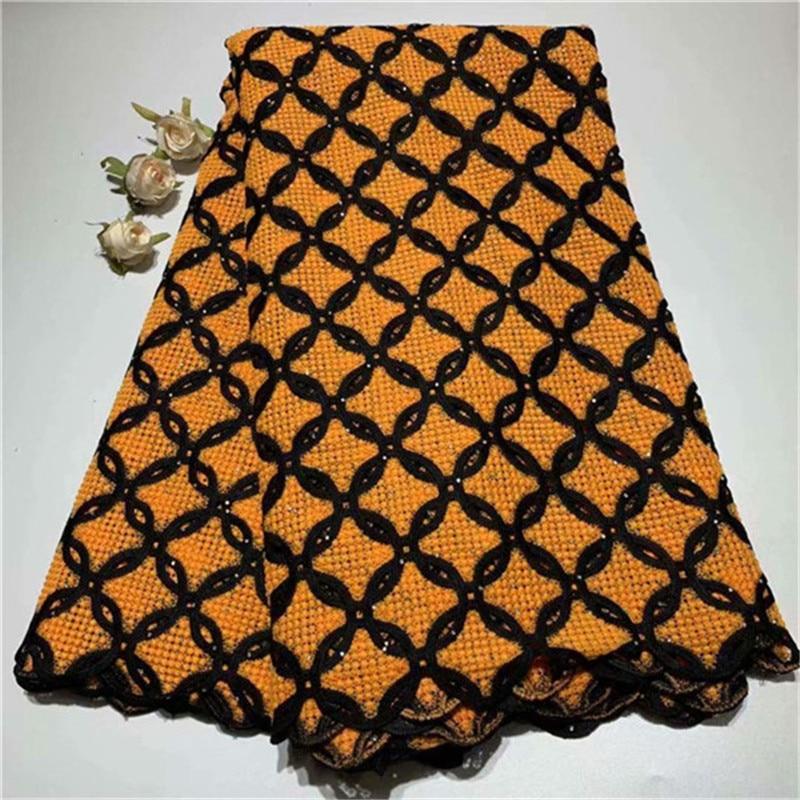 Afryki koronki tkaniny 2019 koronka wysokiej jakości afryki przewód gipiury koronki hafty nigeryjska koronka na ślub tkaniny w Koronka od Dom i ogród na  Grupa 1