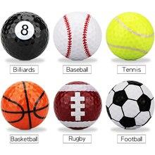 1 шт. мячи для гольфа, многоцветные мячи для гольфа, Прямая поставка