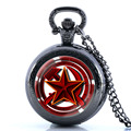 New Unique Soviet Sickle Hammer Convex Design Necklace Pocket Watch Men Quartz Fob Watches Vintage Pendant Clock With Chain Gift