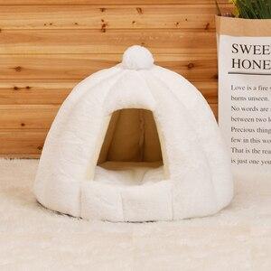 Image 3 - JORMEL зимний теплый лежак для собак и кошек, подходит для домашних питомцев, стирается в стиральной машине