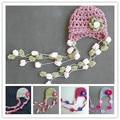 Nueva! bebé recién nacido 0 - 3 M de la primavera hechos a mano del bebé casquillo del ganchillo flor Beanie kawaii chica de verano del sombrero del bebé accesorios de fotografía