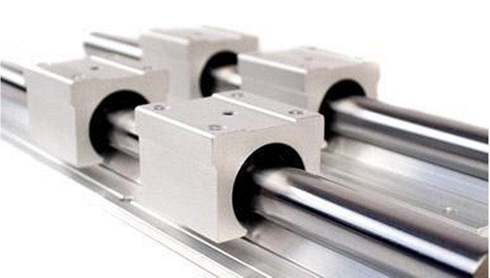 2pcs SBR20- 1000mm Linear Bearing Rails + 4pcs SBR20UU