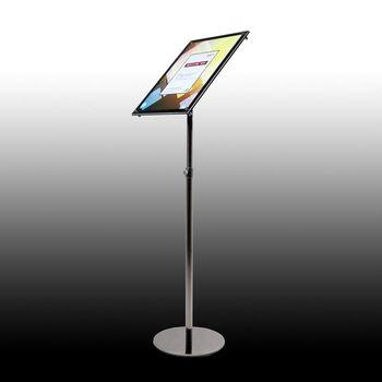 A3 Adjustable Pedestal Sign Holder Floor Stands Rack Black Acrylic Frames Advertising Banner Photo Menu Literature Display Frame