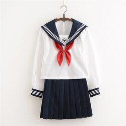 Новое поступление, японские JK наборы, школьная форма для девочек, Sakura, вышивка, осень, для старшей школы, для женщин, новинка, матросские Кост...