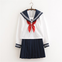 New Arrival Japanese JK Sets School Uniform Girls Sakura Embroideried Autumn High School Women Novelty Sailor