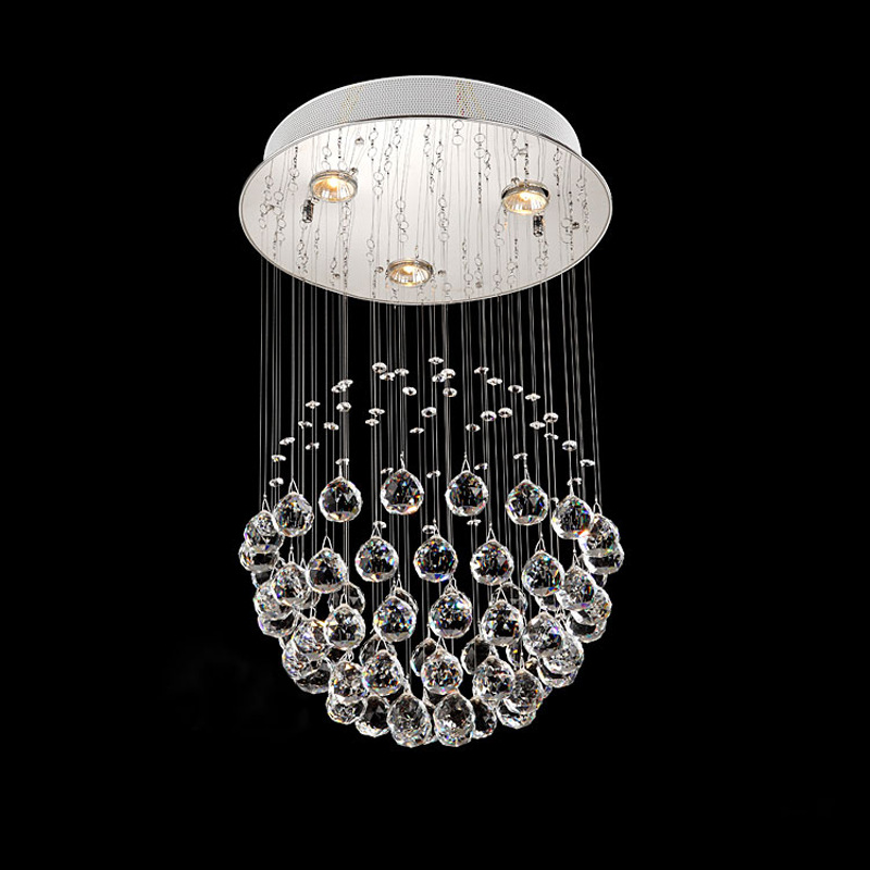 Modern minimalist fashion ball crystal lamp hanging lamp restaurant lamp bedroom lamp living room lamp modern brief fashion round ball crystal lamp pendant lamp restaurant lamp bedroom lamp living room lights