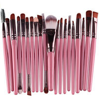 20 Pcs Professional Makeup Brushes Set Make Up Brush Tools Kit Eye Liner Shadow Natural Synthetic