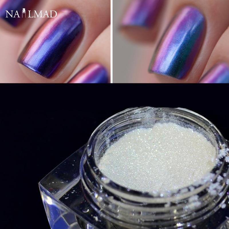 1 box chameleon nail glitter powder