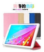 Folio de la cubierta del caso Para Huawei Mediapad 10 T1 T1-A21W T1-A23L Honor Nota 9.6 Tablet Imán Cubierta Del Soporte + de la pantalla protector