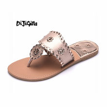 New 2018 Shoes Women Sandals Fashion Flip Flops Summer Style Hair ball Chains Flats Solid Slippers Sandal Flat Free Shipping(China)