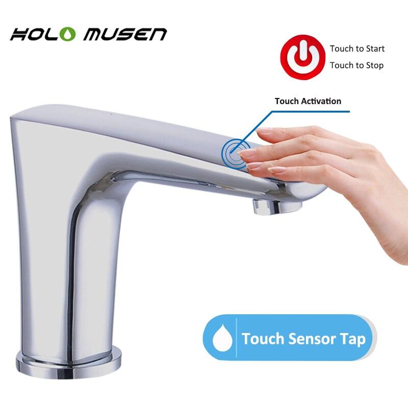Charmant Neue Ankunft Qualität Messing Verchromt Badezimmer Touch Wasserhahn  Batteriebetriebene Touch Wasserhahn One Touch Aktivierung Tap Sensor