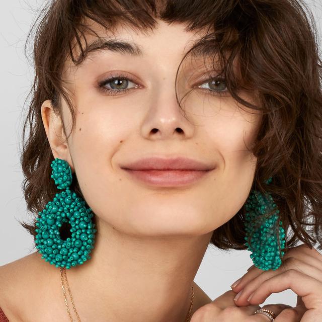 Floral Beaded Earrings