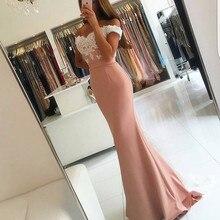 68332a19c5c Blush Pink Evening Gown Mermaid Prom Dresses Appliques Lace Evening Dress  Vestido De Festa