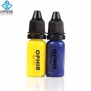Image 5 - OPHIR 10 butelek makijażu Airbrush farby zestaw z 3 kolory Air fundacja 2x powietrza rumieniec 5x powietrza cieni do powiek dla farba do twarzy salon makijażu,