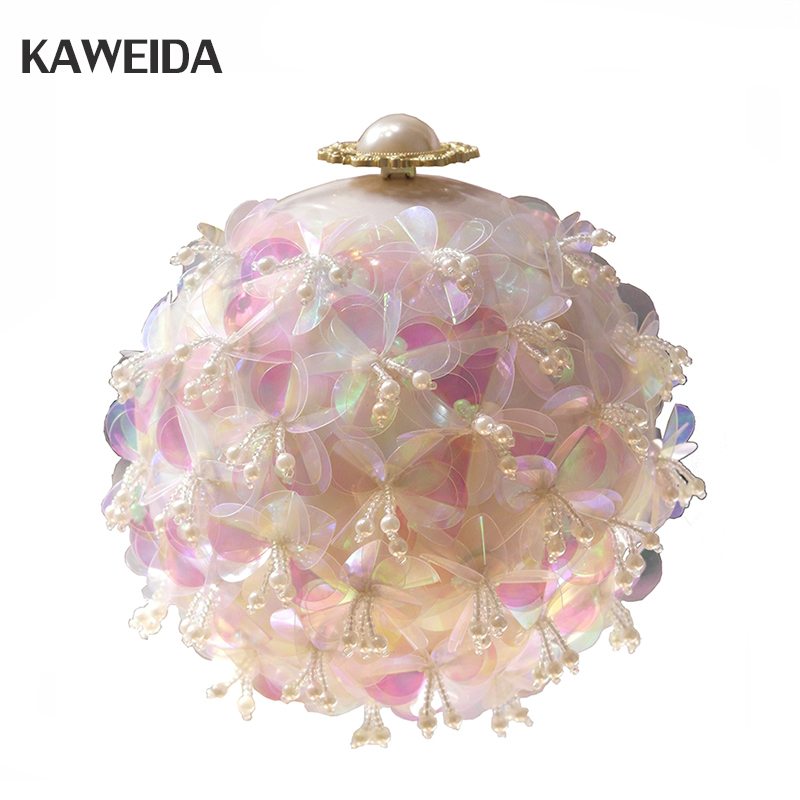 2018 Womens Handmade Flowers Handbags Small Tote Fashion Diamond Beaded Ball Clutch Bag Wedding Small Clutch Purse Evening Bag2018 Womens Handmade Flowers Handbags Small Tote Fashion Diamond Beaded Ball Clutch Bag Wedding Small Clutch Purse Evening Bag