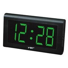 Высокое Качество Silent Большой Светодиодный Цифровой Настенные Часы Современный Дизайн пластиковые Настольные Часы С ЕС Подключить Световой Часы Настенные Часы тихий