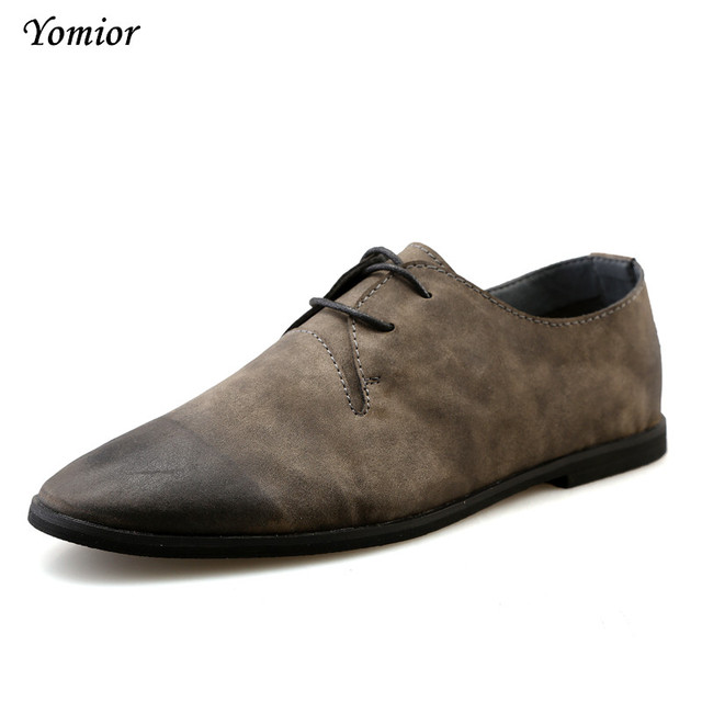 3284e9458c7 Yomior New British Style Mens Shoes Business Casual Man Fashion Lace Up  Breathable Cow Leather Office Wedding Loafers Shoes