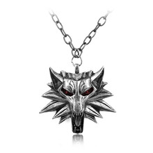 Fashion Hot Sale Wizard Witcher 3 Medallion Pendant Necklace Wolf Head Necklace U Pick Color Halloween Necklace
