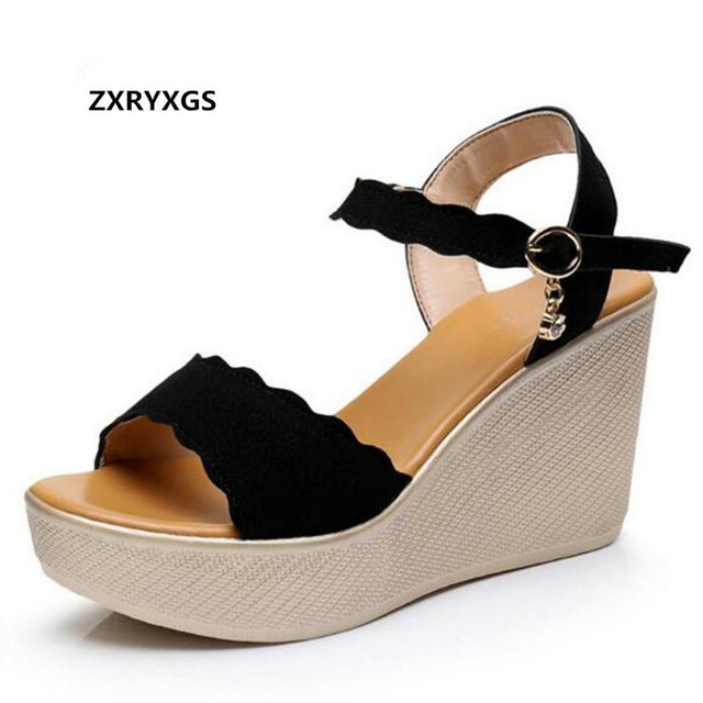 102af8a5fc5c Light Comfortable Women Shoes Wedge Sandals 2019 New Elegant Wild Fish Head  High-heeled Sandals Big Size Summer Women Sandals