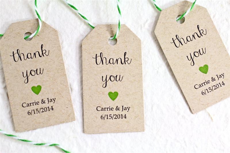 50pcs/lot 3*5cm Vintage DIY Blank Kraft Paper Gift Tags Wedding ...