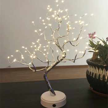 LED Tree Light Table Lamps 108 Bulbs Night light for Bedroom Wedding Party Christmas Decoration USB & Battery Copper wire Lights - DISCOUNT ITEM  29 OFF Lights & Lighting