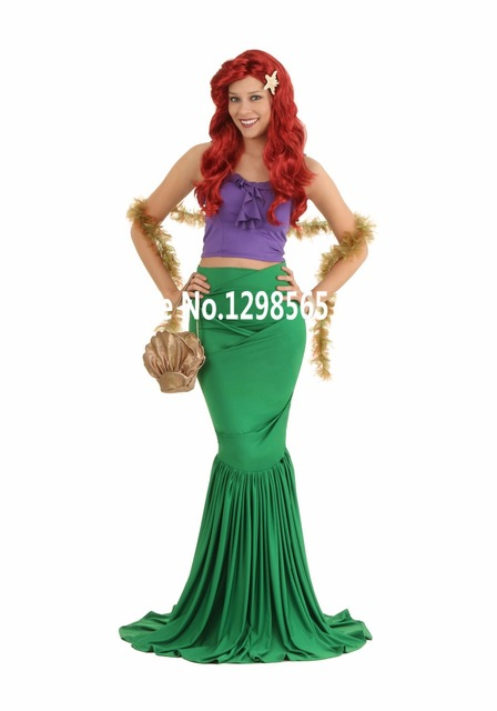 sexy costumes for women adult princess ariel dress The little Mermaid Ariel princess Cosplay costume mermaid  sc 1 st  AliExpress.com & sexy costumes for women adult princess ariel dress The little ...