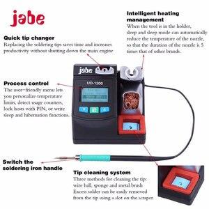 Image 3 - محطة لحام ذكية دقيقة بدون الرصاص Jabe UD 1200 تسخين سريع 2.5S مع أدوات نظام تسخين مزود طاقة ثنائي القناة