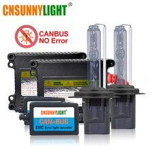 CNSUNNY светильник CANBUS ксеноновый HID комплект H7 H1 H11 автомобильный головной светильник без ошибок/мерцания 4300 К 6000 К 8000 К H4 9005 9006 880 H3 ксеноновый противотуманный светильник