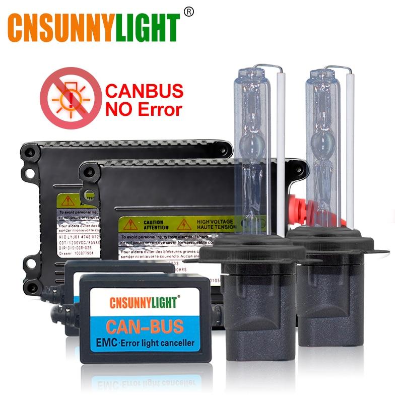 Kit Xenon HID CANBUS H7 CNSUNNYLIGHT H1 H11 Farol Do Carro Nenhum Erro/Flicker 4300 K 6000 K 8000 K h4 9005 9006 880 H3 Xenon Luz de Neblina