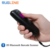 Portable Pocket Wireless Mini 2D Scanner QR Code Reader Handheld Bluetooth 2D Barcode Scanner For Android IOS WinCE