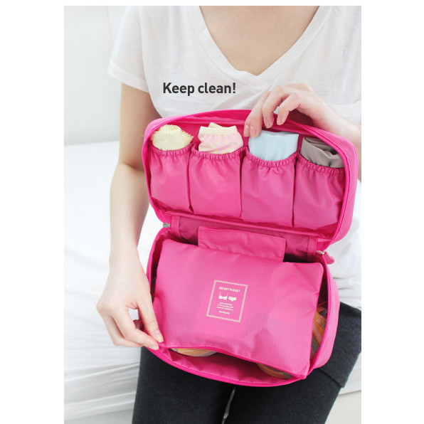 Underwear Organizer Lingerie Travel-Bag Case Handbag Bra 1pc for Women Trip Luggage Pouch title=