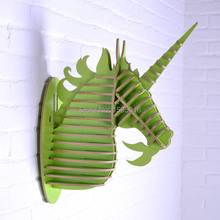 3D Unicorn head home decor,wooden art,wood craft,carved wall hanging,living room wall decoration,MDF interior decor deocraions