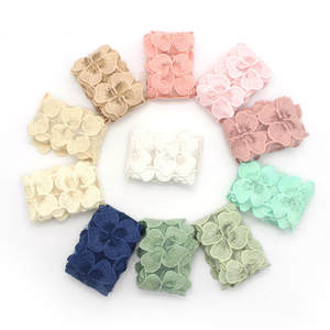5cm Organza Openwork Embroidery Solid Color Water-Soluble