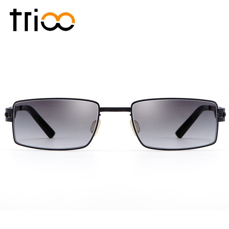TRIOO Reading Titanium Glasses UV Block Diopter Male Shades Computer Prescription Sunglasses Men High Quality Color Tint Eyewear trioo rimless frame prescription glasses men square titanium blue reading eyeglasses male diopter optical computer spectacles