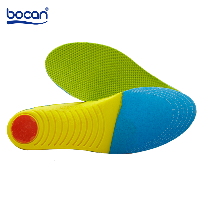 Bocan Memory Foam insoles Man/Women Arch Support Shock Absorption Thickening Breathable Shoe Insole shoes pads memory foam support orthotic insoles arch