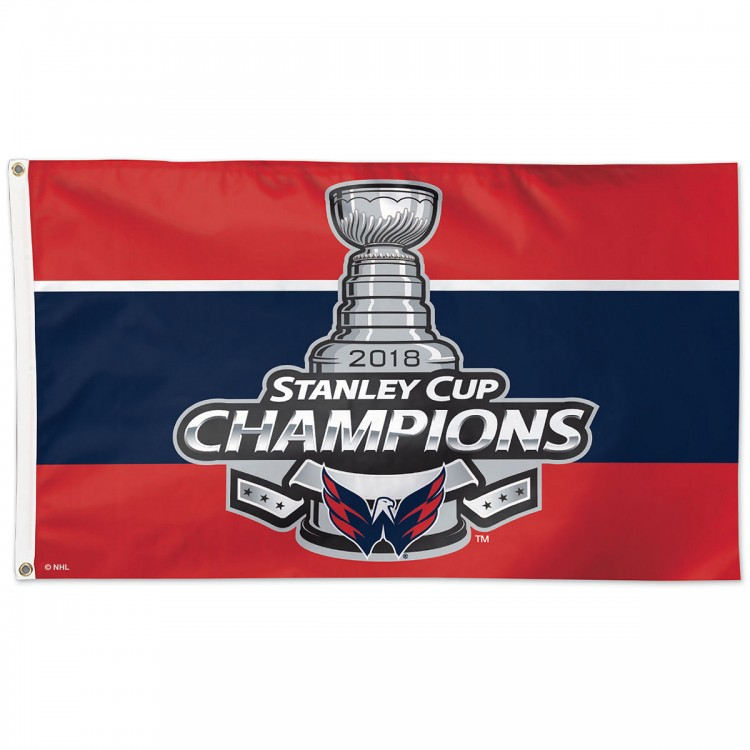 Washington Capitals NHL 2018 Stanley Cup Champions Flag 3ft x 5ft 100% Polyester Patio, Lawn & Garden Outdoor Flags
